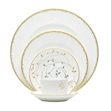 Gilded Leaf 5 Piece Place Setting