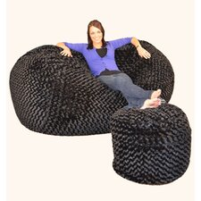 Wildon Home Bean Bag Sofa and Ottoman