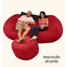 Wildon Home Bean Bag Couch and Ottoman