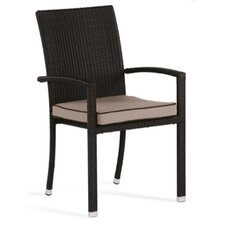 Brisbane Stacking Dining Arm Chair with Cushion