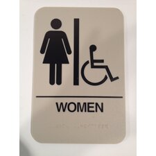 Women' Handicap restroom sign
