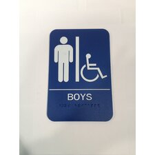 Boy's Handicap Restroom Sign
