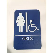 Girl's Handicap Restroom Sign