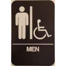 <strong>DON-JO MFG INC.</strong> Men's Handicap Restroom Sign
