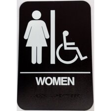 <strong>DON-JO MFG INC.</strong> Women's Handicap Restroom Sign