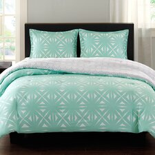 Lattice Geo Reversible Comforter Set