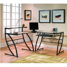 Belair Glass L-Shape Computer Desk