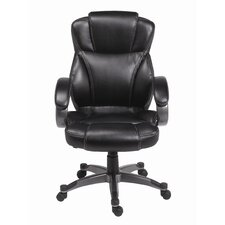 <strong>Z-Line Designs</strong> Genuine Waxed Mid-Back Leather Executive Chair