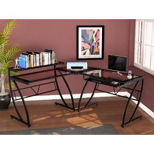 Chandler Glass L Desk