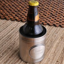 Personalized Gift Brushed Koozie with Pewter Medallion