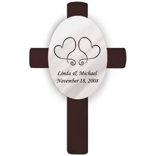 <strong>JDS Personalized Gifts</strong> Personalized Gift Oval Wedding Cross Two Hearts Unity Wall Décor