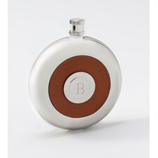 Personalized Gift Oxford Round Leather Flask