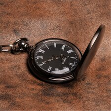 Personalized Gift Gunmetal Men's Pocket Watch