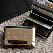 Personalized Gift Expandable Executive Business Card Case