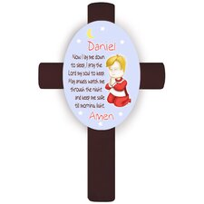 Personalized Gift Girl's Bedtime Prayer Cross Wall Plaque