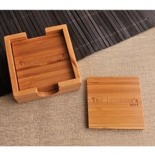Personalized Gift Bamboo Coaster (Set of 4)