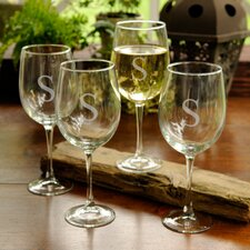 <strong>JDS Personalized Gifts</strong> Personalized Gift White Wine Glass (Set of 4)