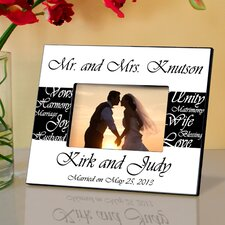 Personalized Gift Mr. and Mrs. Wedding Picture Frame