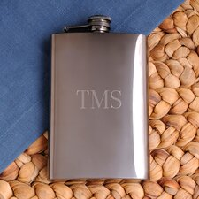 Personalized Gift Gunmetal Flask