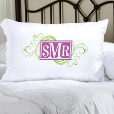 Personalized Gift Felicity Cheerful Monogram Pillowcase
