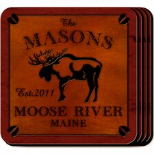 <strong>JDS Personalized Gifts</strong> Personalized Gift Cabin Series Coaster (Set of 4)