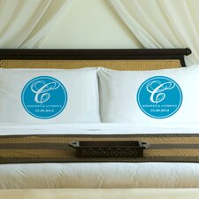 "Personalized Gift Couples ""Magical Monogram"" Pillowcase (Set of 2)"