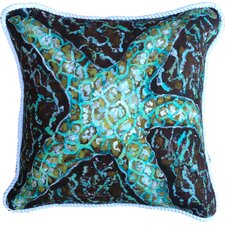 Mosaic Starfish Cotton Pillow