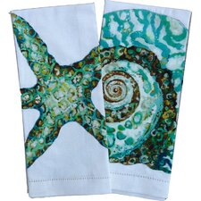 Seashell Tea Towels (Set of 2)