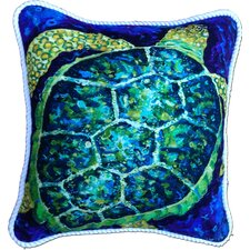 <strong>My Island</strong> Sea Turtle Cotton Pillow