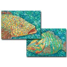 <strong>My Island</strong> Spotted Grouper / Striped Grouper Placemat (Set of 4)