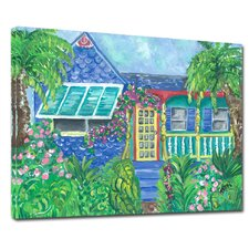 Island House Mounted Giclee Wall Art