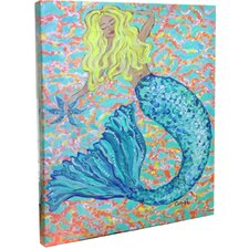 Blonde Mermaid Mounted Giclee Wall Art