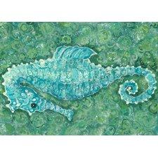 Seahorse Canvas Mat