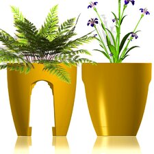 Designer Oval Rail and Deck Planter (Set of 2)