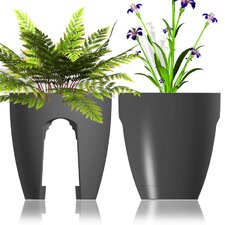 Rail and Deck Round Planter (Set of 2)