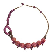 Fabric-Covered Pambil Necklace