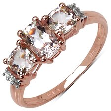 10K Rose Gold Morganite Ring