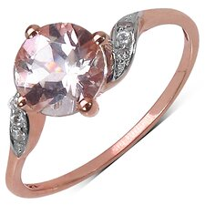 10K Rose Gold Round Cut Morganite Ring