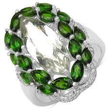 925 Sterling Silver Marquise Cut Gemstone Ring