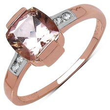 10K Rose Gold Asscher Cut Morganite Ring
