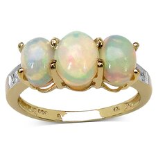 925 Sterling Silver Oval Cut Ethiopian Opal Ring