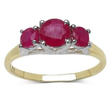 <strong>JewelzDirect</strong> 925 Sterling Silver Round Cut Ruby Ring