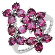 <strong>JewelzDirect</strong> 925 Sterling Silver Rhodolite Ring