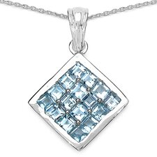 925 Sterling Silver Gemstone Pendant