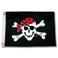 Pirate Heads One Eyed Jack Traditional Flag