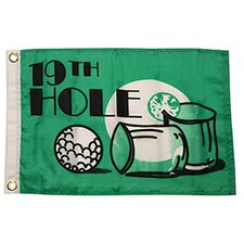 Novelty Design '19th Hole' Traditional Flag