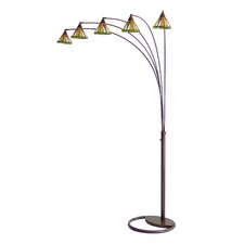 Mission 5 Light Arc Floor Lamp