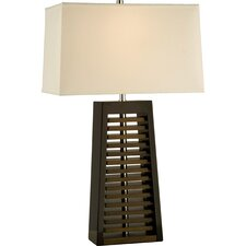 "Louver 28"" H Table Lamp with Rectangle Shade"