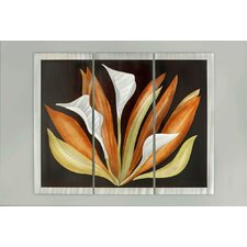 3 Piece Bird of Paradise Graphic Art Plaque Set