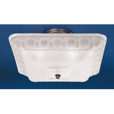 Americana Square 2 Light Semi Flush Mount